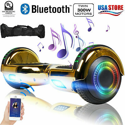 """6.5"""" Hoverboard Bluetooth Electric Self Balance Scooter with Bag Novel Gold"""