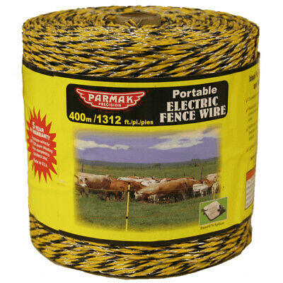 400m Yellow Electric Fence Wire