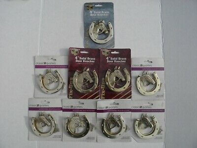 Lot of 9 New Classic Quarters Solid Brass Horseshoe Door Knocker Horse Shoe