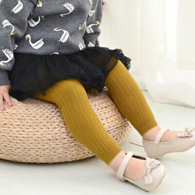 Pantyhose Tights Stockings Cotton Solid Socks Baby Girls Toddler Kid 05 Years t