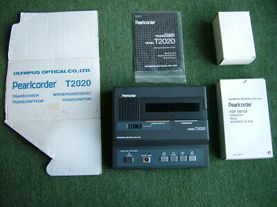 Olympus Pearlcorder T2020 Mini and Micro Cassette Transcriber/Recorder MINT