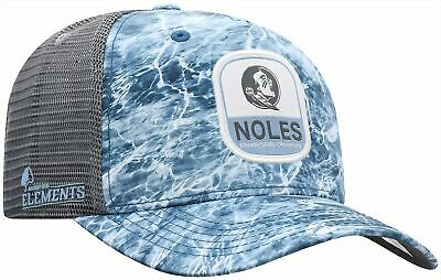 Florida State Mens Moss Snapback Hat by Top of the World One Size Blue/grey