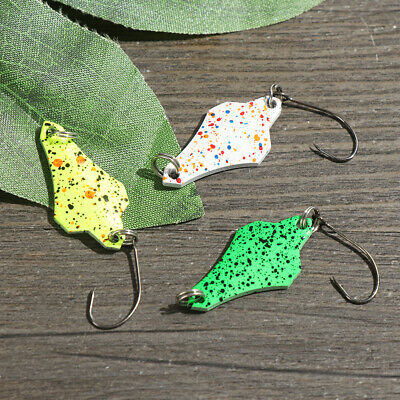 trout mini Crank Bait Feather Treble Hook Spoon Spinner Fishing Metal Lures