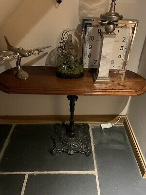 Console Vintage Cast Iron Hall Table-Wood Top Mahogany? Ws153ah May Deliver For£