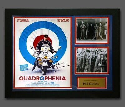 Phil Daniels Hand Signed Quadrophenia 12x16 Photo In A Frame AFTAL Proof Coa