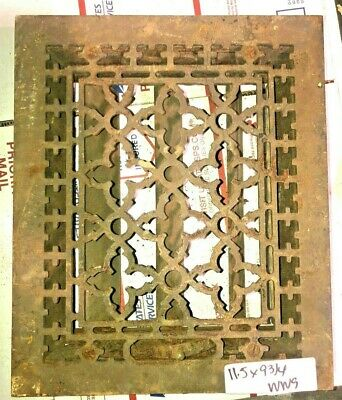 Vintage Antique Cast Iron Heat Grate Wall Register