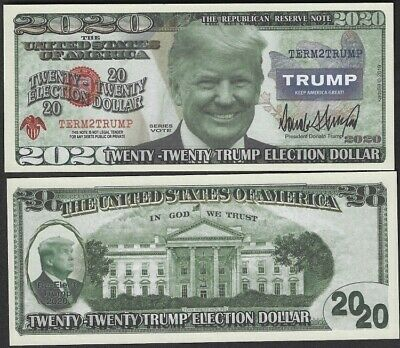 Donald Trump 2020 Presidential Dollar Bill - Limited - Pack of 100 / USA SELLER