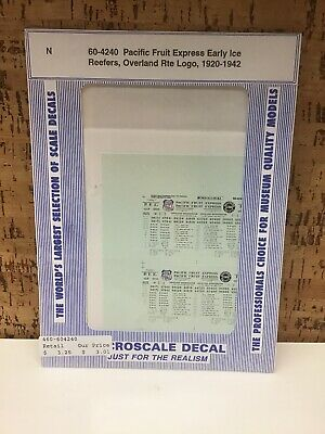 40/' /& 50/' Brown Boxca Microscale Decal N  #60-1333 Chicago /& Northwestern C/&NW
