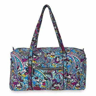 Mickey and Minnie Mouse Paint the Town Paisley Duffel Bag by Vera Bradley