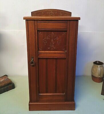 Arts And Crafts Aesthetic Style Walnut Bedside Cabinet