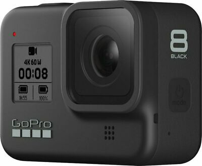 GoPro HERO8 Black 4k60 12MP Waterproof Action Camera with 32GB SD Card Brand New