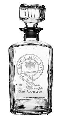 Robertson Clan Crest Decanter - Clearance