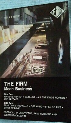 The Firm - Mean Business - Cassette - Jimmy Page, Zeppelin