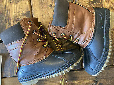 10T 3M Brown Thinsulate Waterproof Duck Snow Boots GAP Baby Toddler Boys 9T