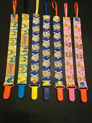 Handmade Pacifier Holder - Kids Shows - WB Cartoons - Tweety and Sylvester