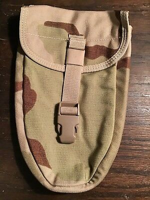 Military Issue Desert Molle E-Tool Entrenching Shovel Cover Pouch New