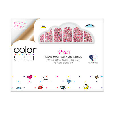 Color Street Petite Nail Polish Strips ( Glitterally Can't ) Free Shipping