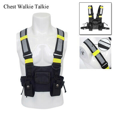 Holster Vest Rig Bag Pocket Radio Chest Harness Front Pack Pouch Walkie Talkie