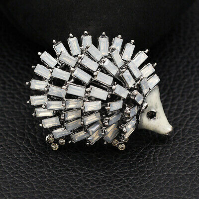 Betsey Johnson Lovely Crystal Hedgehog Charm Animal Brooch Pin Jewelry Gift
