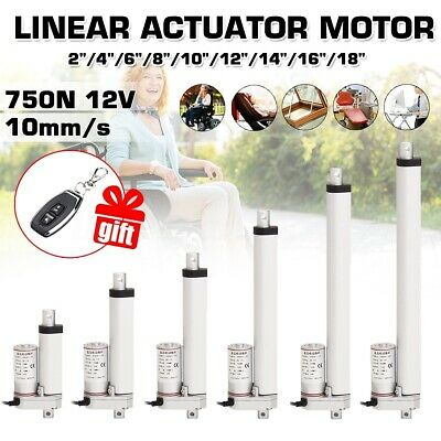 Linear Actuator 750N 75KG 12V DC Electric Motor 100-450mm for Auto Door Lifting