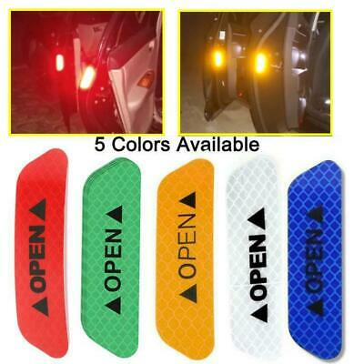 4 x Car Door Safety Reflective Tape Open Warning Sign Stickers Decal UK AUTO1045