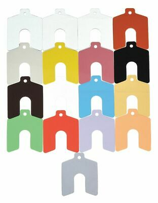 Precision Brand Polyester Slotted Shim with Tab Assortment, 170 Pcs., Trade