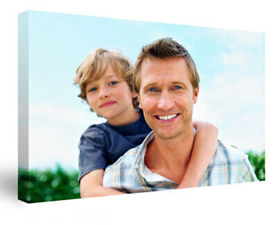 Your Photo Picture on Canvas Print A4 Box Framed Ready to Hang