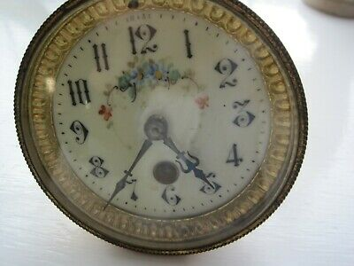 French Clock Movement With Porcelain Dial (8 Day)