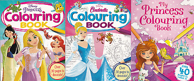 DISNEY PRINCESS COLOURING BOOK x 2 + PRINCESS COLOURING BOOK  3 GREAT BOOKS