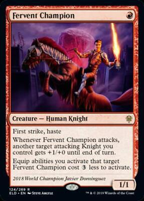 Fervent Champion Near Mint Normal English Magic Card Throne of Eldraine MTG TCG