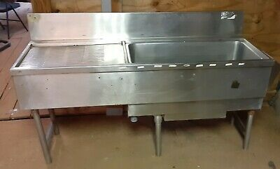 Underbar Workstation With 7 Circuit Sealed Cold Plate, Ice Bin, Drain Board