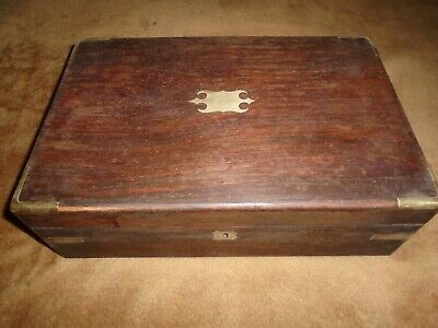 "Antique ""Campaign"" Style,Rosewood Writing Slope"