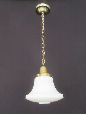 Vintage School House Hanging Light Fixture * Restored & Rewired *       FX253