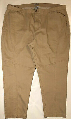 Catherines Womans Stretch Comfortwaist Tan Chino Pants Size 26/28W