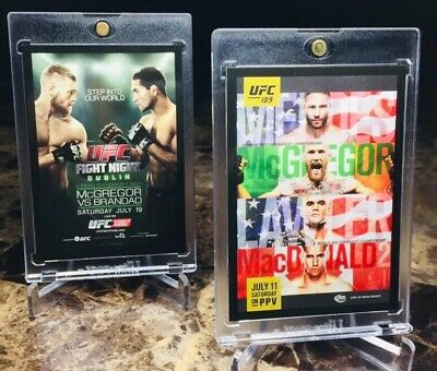 """2015 Topps/Ufc ~ """"Conor Mcgregor"""" Fight Poster Insert!! """"2 Card Lot""""! Notorious!"""