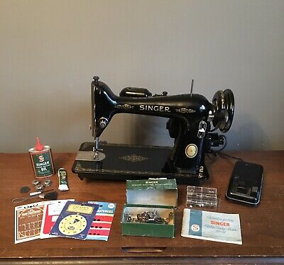 Vintage 1953 Singer Sewing Machine Model 66-16 Foot Pedal Attachments Manual
