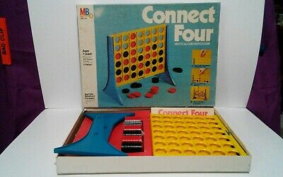 Vintage 1979 Connect Four Vertical  Checkers Game By Milton Bradley , Complete