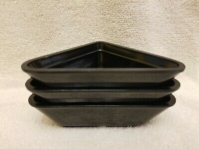 G.E.T. Melamine Ramakin Black NOS Lot of 3 Restaurant Bowl 3 oz.
