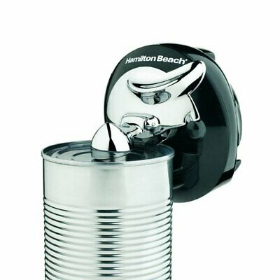 Can Opener Cordless Rechargeable Silver Black Compact Removable Cutting Lever