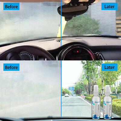 Car Interior Glass Windscreen Window Anti-fog Agent Mist Liquid Spray UK SELL
