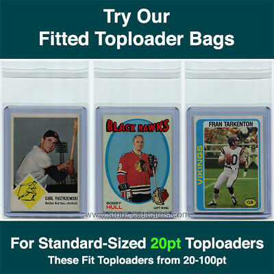 Fitted Bags Top Loader Sleeves for Ultra Pro Toploaders (1000 - 10pks) 20pt