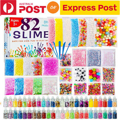 Slime Kit Set 82Pcs/Pack Accessories Beads Charms For DIY Slime Supplies Kit AU
