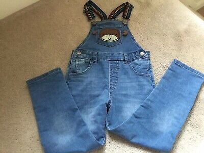 Boys Blue denim dungarees NEXT age 4 - 5 years BNWT Monkey Design Dungarees NEW