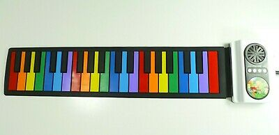 Portable Roll Up Piano Keyboard Kids 49 Key Flexible Musical Toy Birthday Gift