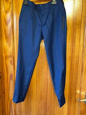 Zara Boys Blue Tailored Trousers Size 9 New Tags