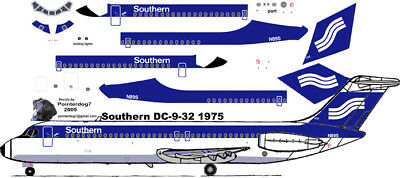 Delta delivery McDonnell Douglas DC-9-32  airliner decals for Airfix 1//144 kits