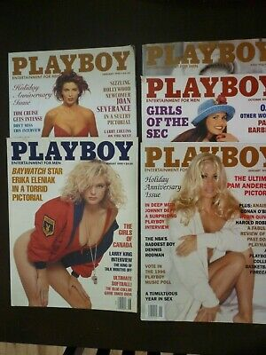 Miscellaneous Lot of 5 Playboy Magazines (January/1990 - January/1996)