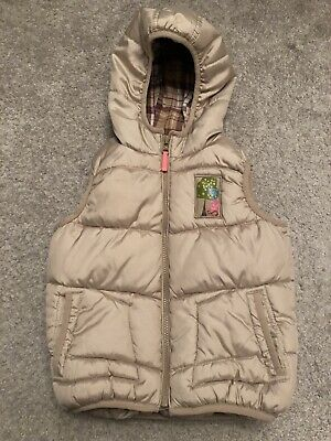 Next Girls Gilet Beige Age 3-4 Years