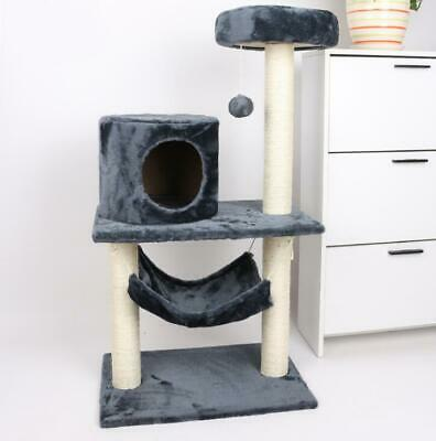 Cat Tree Scratching Climbing Tower Scratch Activity House Kitty Play Toy Home