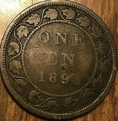1891 Canada Large 1 Cent Penny